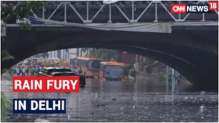 Heavy Rains Inundate Several Parts Of Delhi, Traffic Snarls Reported In Several Areas   CNN News18