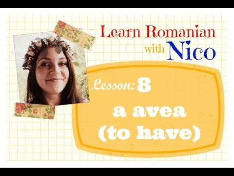 Learn Romanian with Nico - Lesson 8: A AVEA (TO HAVE)