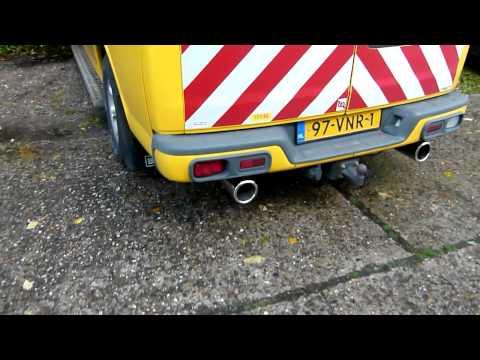 Chevy Van 6.5 TD van 2001 met maatwerk RVS Sport- uitlaat van EPS Uitlaten