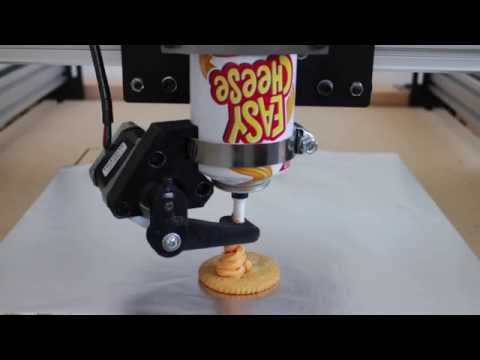 Easy Cheese 3D Printer: Initial Testing video