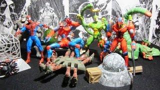 Человек Паук 1994 13 волна Web Trap Распаковка и обзор фигурок фирмы Toy Biz Марвел