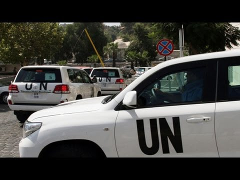UN chemical weapons experts convoy attacked by snipers in Damascus
