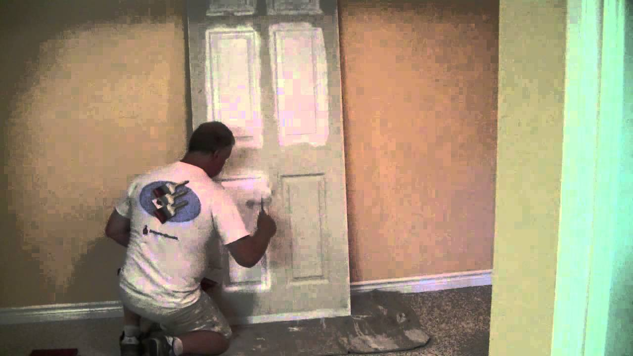How To how to paint a door with a roller images : How To Paint A Panel Door With A Wiz Roller - YouTube