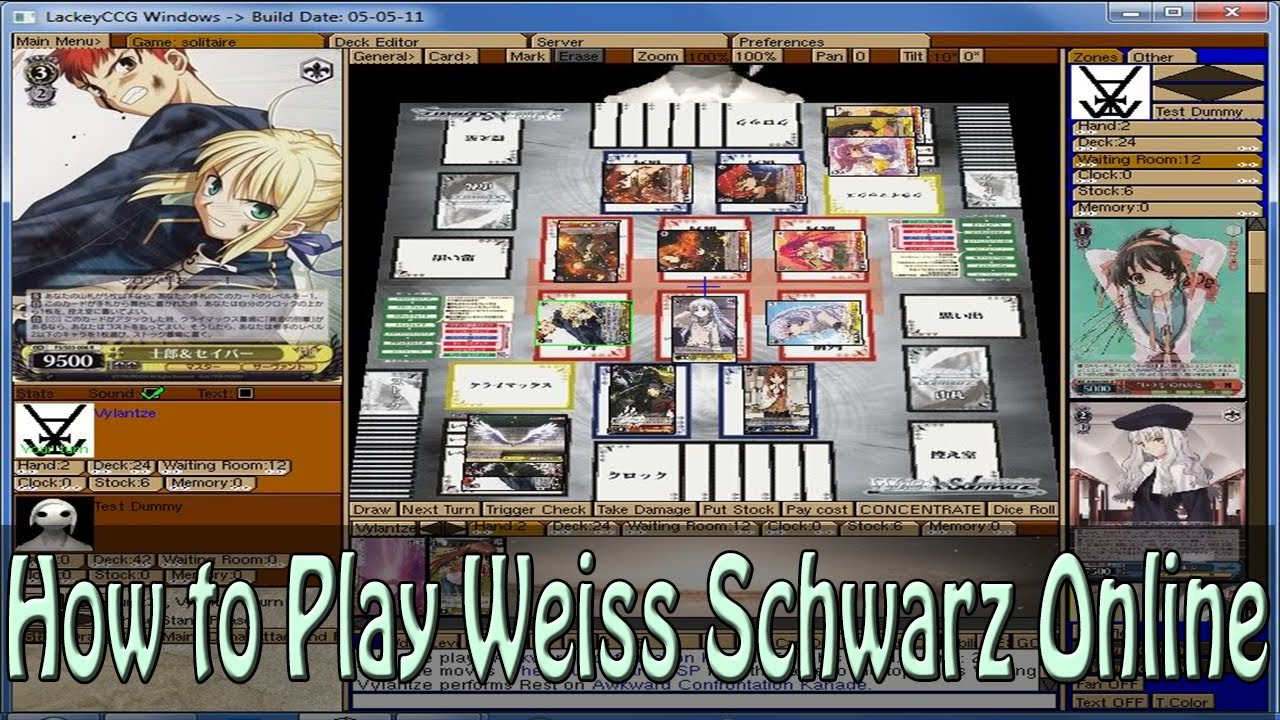 how to play weiss schwarz online youtube