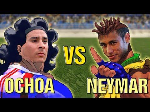 Ochoa vs Neymar - Brazil Mexico 2014