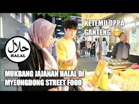 MUKBANG JAJANAN HALAL DI MYEONGDONG STREET FOOD KOREA