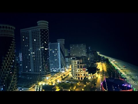 Aerial Shots Of Night Batumi | Sony A7s Low Light King | Focus Production