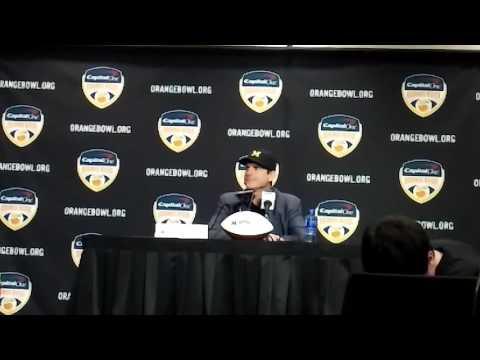 Orange Bowl: Jim Harbaugh talks FSU, shuts down 'bikini' question