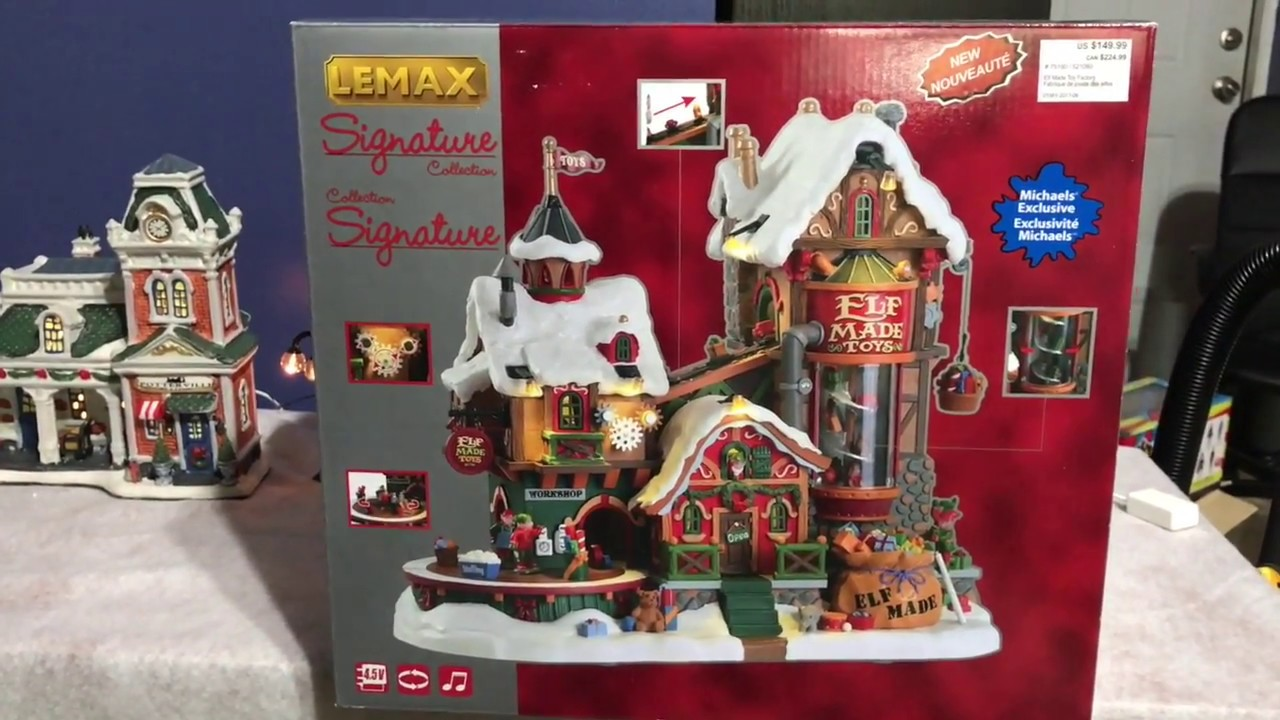 Lemax Christmas Village Michaels.Michaels Exclusive Elf Made Toy Factory Unboxing Xmas Decoration 2017 Lemax Signature Collection