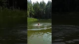 Прыжок с пирса. Каракан 2018.