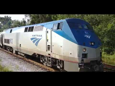 Amtrak 90 Silver Service/Palmetto (AMTK 163) Northbound, North Charleston, SC
