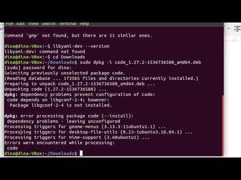 Ubuntu How to install Visual Studio Code & fix package libconf-2-4 not installed