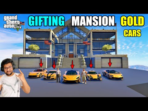 GTA 5: GIFTING MANSION AND EXPENSIVE CARS TO FRANKLIN LIFE | GTA5 GAMEPLAY #112