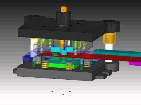 Metal Stamping Die Animation Operations Pierce Idle