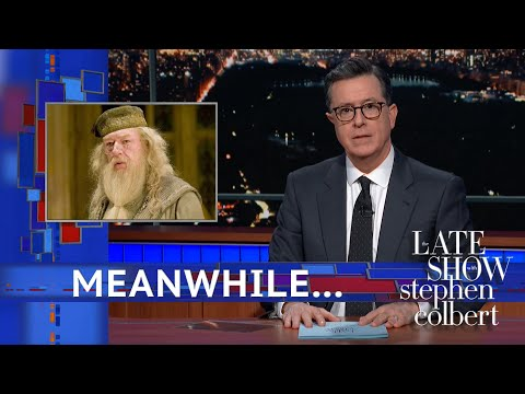 Stephen Colbert reacts to JK Rowling's latest Dumbledore comments