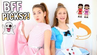 BFF Picks My Halloween Costume!!! 🎃BFF Shopping Challenge