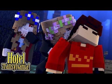 HOTEL TRANSYLVANIA: BECOMING VAMPIRES!! w/Little Carly and Little Kelly (Minecraft).