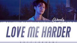 Gambar cover WOODZ (조승연) – 'LOVE ME HARDER' (파랗게) Lyrics [Color Coded_Han_Rom_Eng]