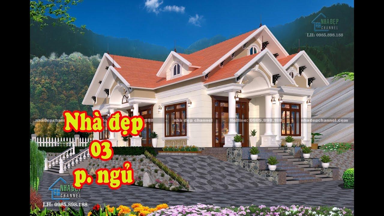 Mẫu nhà vườn cấp 4 mái thái, 1 tầng 3 phòng ngủ đẹp và hợp lý diện tích 175m2