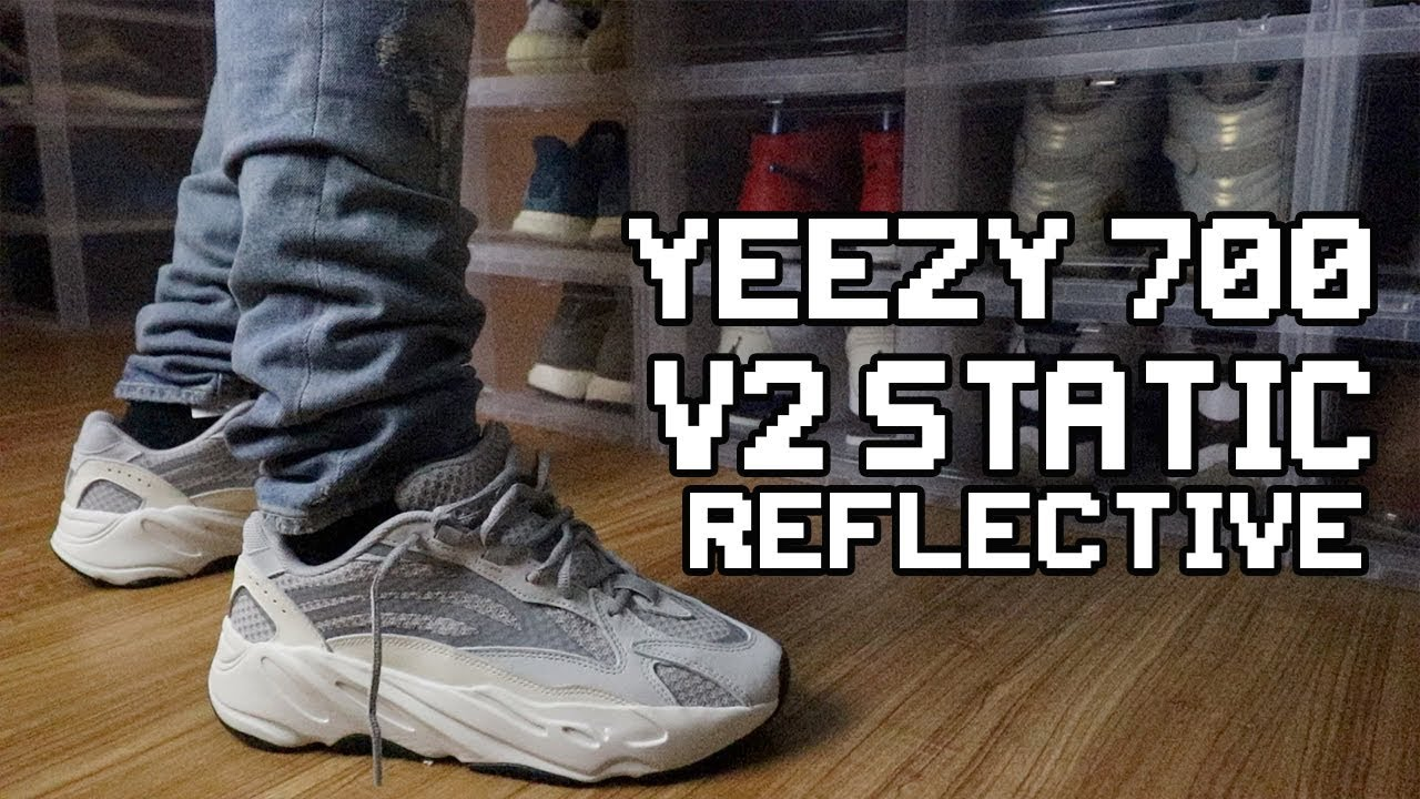 2a5f0c28fdebd0 ADIDAS YEEZY BOOST 700 V2 STATIC REFLECTIVE REVIEW WITH ON FOOT ...