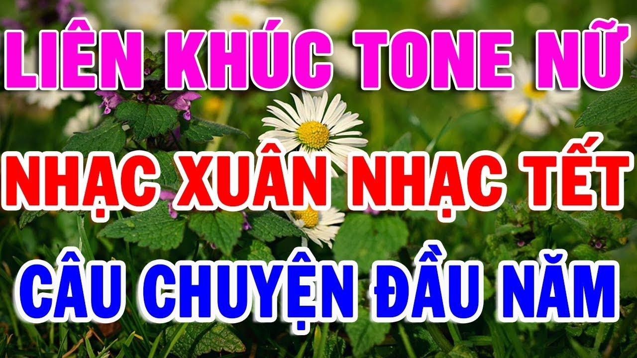 Nhạc Xuân Karaoke Tone Nữ | karaoke Nhạc tết Mừng Xuân Canh Tý |  Nhạc Vàng Bolero Cực Hay