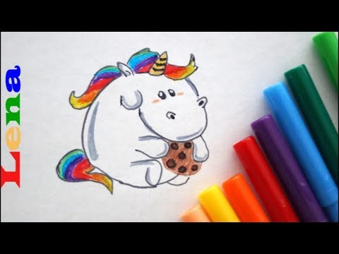 Pummel Einhorn Zeichnen Mit Keks How To Draw A Unicorn With