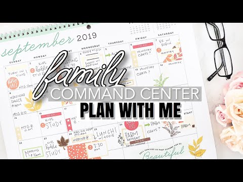 Family Command Center Calendar |Plan With Me| At Home With Quita