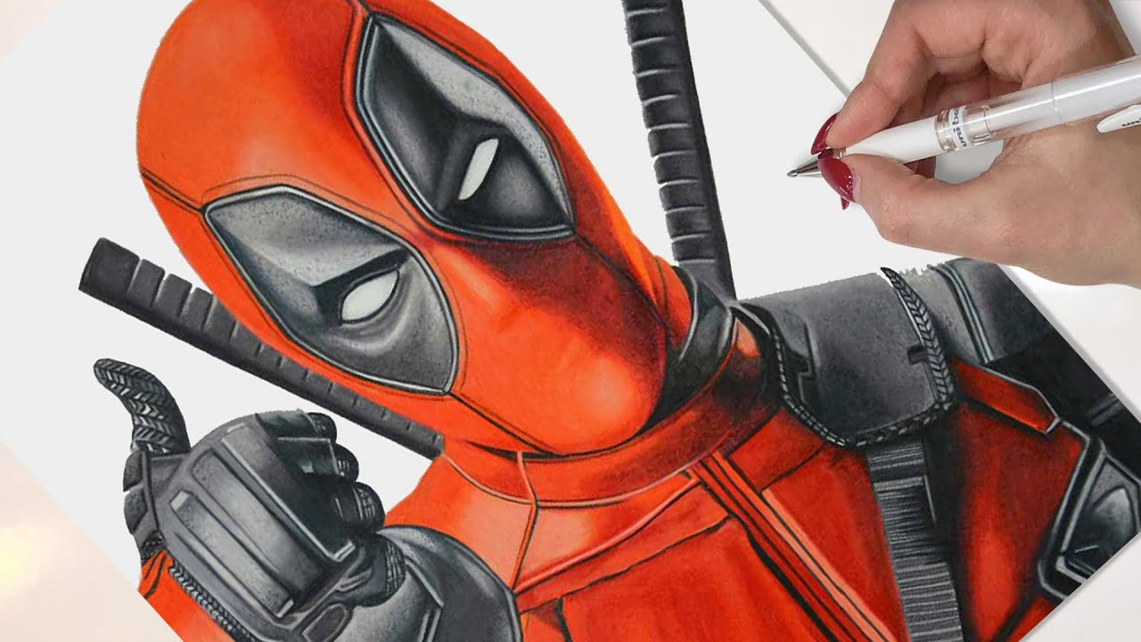 Deadpool Drawing Marvel Art Youtube