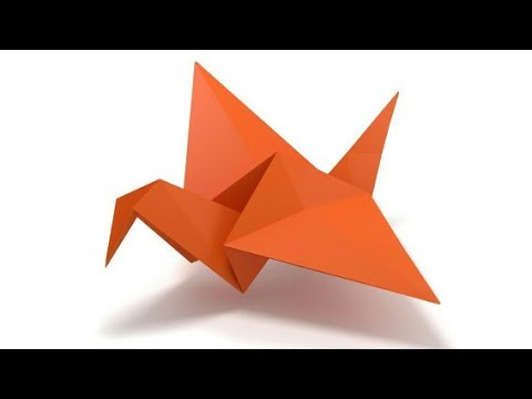 Origami facile l 39 oiseau qui bat des ailes youtube - Video d origami facile ...
