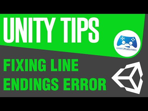 Fixing Line Endings Error - Unity Tips