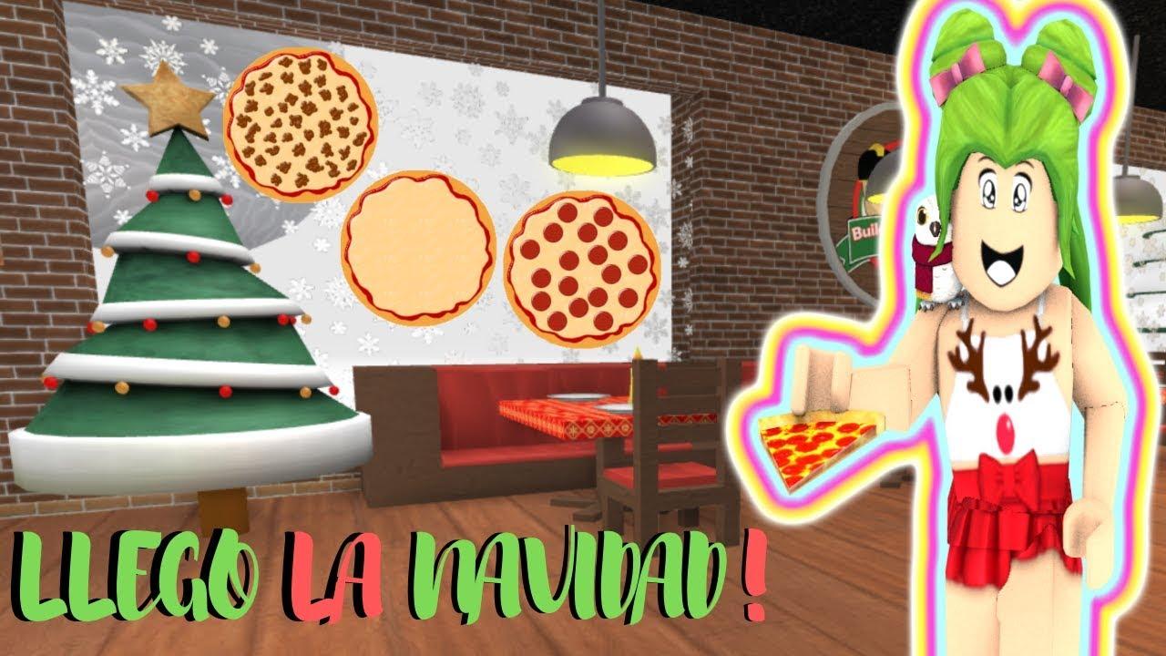 La Navidad Llego A Trabajar En La Pizzeria Roblox Youtube