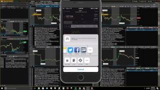 How to trade stocks & options with your phone - ThinkOrSwim Mobile Application tutorial walkthrough