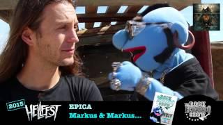 Epica... Markus & Mark papotent entre potes - Hellfest 2015