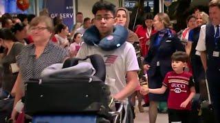 В США в зонах вылета скопились тысячи людей из-за сбоя в системе контроля.