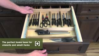 Schuler Cabinetry: Tiered Sliding Organizers, Kitchen Storage Part 12