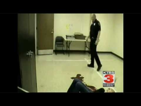 Cop turns off security camera while he...