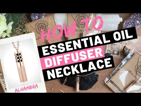 How-to: The Alhambra Essential Oil Diffuser Necklace