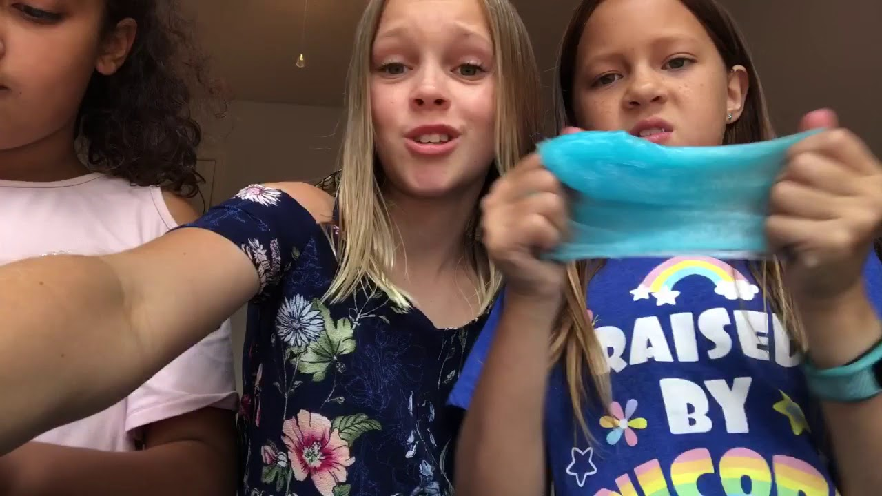 who makes the better slime challenge! - youtube