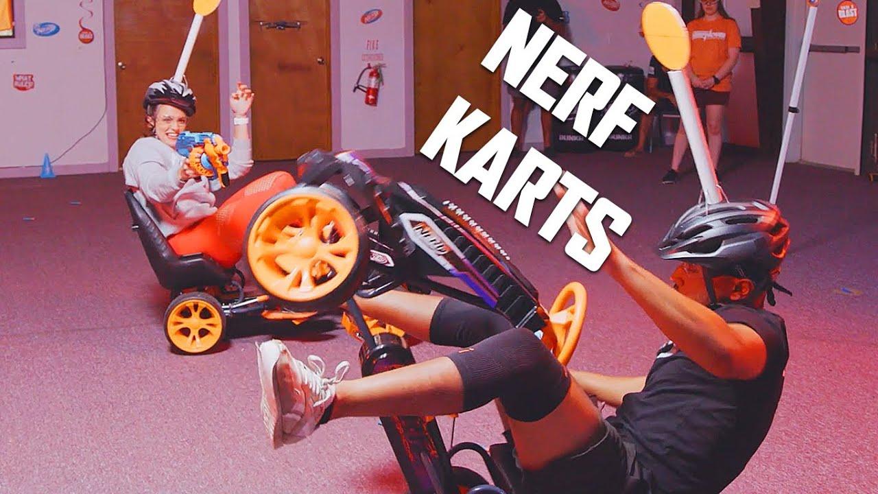 NERF Kart Showdown 🏎️ | Trick Shots | EP 20 | Nerf House Showdown – Challenge