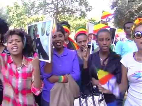 Tel Aviv: Ethiopians protest at American Embassy against Saudi Regime