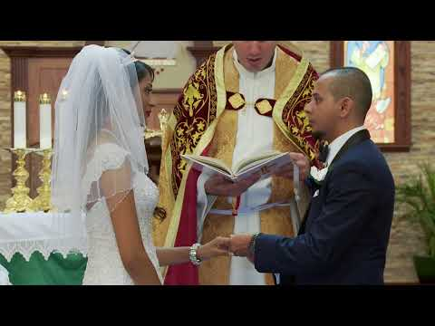 Sasha & Aaron Vows & Rings Exchange | St. Francis de Sales Catholic Church Toronto