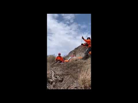 """SEMAR rescató a una persona en inmediaciones del mirador """"Salsipuedes"""", en BC"""
