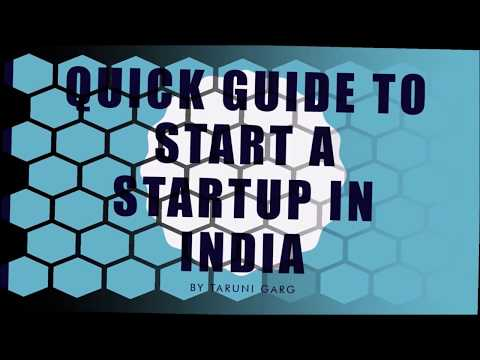 GUIDE TO START A STARTUP IN INDIA