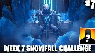 Fortnite Week 7 Secret Battle Star Location | Loading Screen #7 | Snowfall Challenge