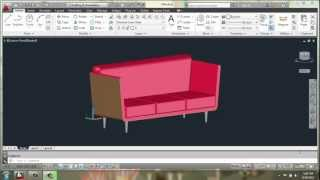 Autocad 2013 - 3d Modeling Basics - Sofa Part 1 - Brooke Godfrey