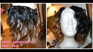 How To: Make A U-part Wig Using Hot Glue Gun