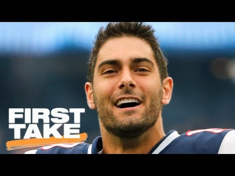 Stephen A. Smith says Jimmy Garoppolo to 49ers is a 'damn good trade' | First Take | ESPN