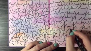 Идеи для личного дневника ( ЛД ) / Разворот: коты (cats)