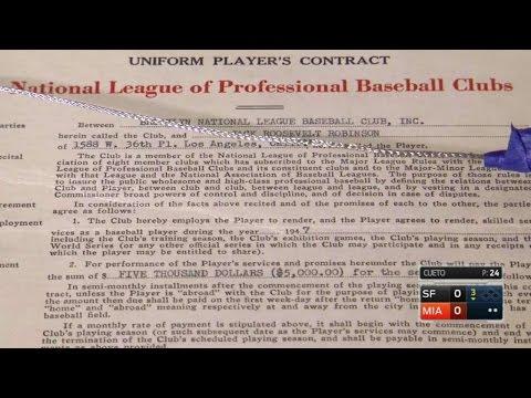 SF@MIA: Robinson's first Major League contract
