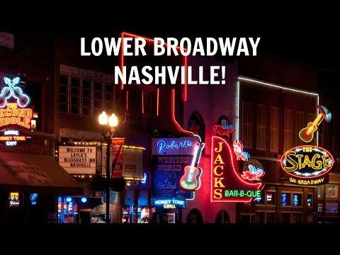 Lower Broadway - Nashville Tennessee